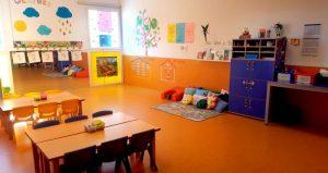 Interior de un aula de alumnos