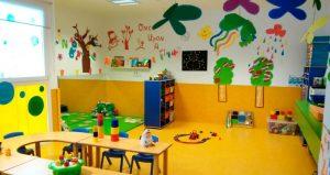Interior del aula de niños de 2 años