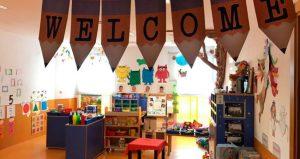 Welcome colgado en banderetas